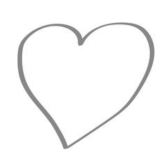 Handgezeichnetes Herz in grau