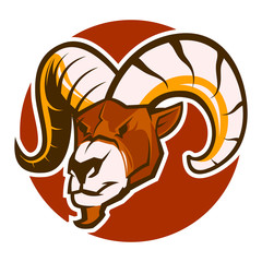angry ram goat head mascot vector esports logo illustration