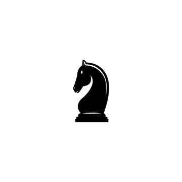 silhouetted chess knight piece
