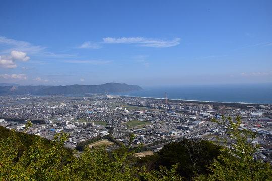 愛宕山からの景色 (宮崎県延岡市)