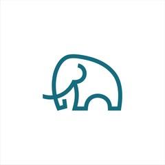 Elephant icon. Vector concept illustration for design