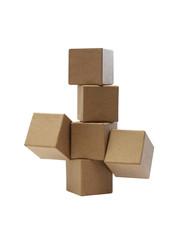 Brown Cardboard Cubes