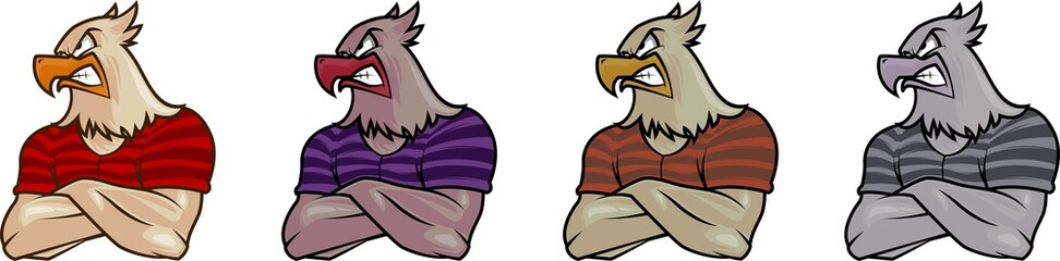 eagle masculine vector mascot illustration