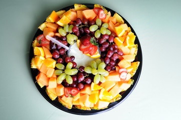 Fresh Fruit Variety on Tray - Healthy Eating Diet Food