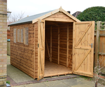 High quality garden shed.