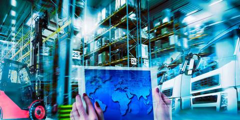 Moderne Logistik im Transportwesen