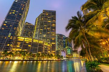 Miami Downtown, Brickell Key at Night
