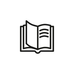 Opened book line icon