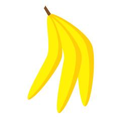 Banana flat illustration on white