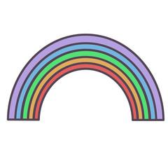 Rainbow flat illustration on white