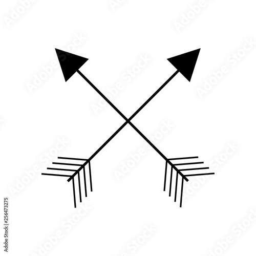 Set of black arrows and isolated on white background  Tribal