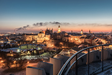 Fototapeta Panorama of old town in City of Lublin, Poland obraz
