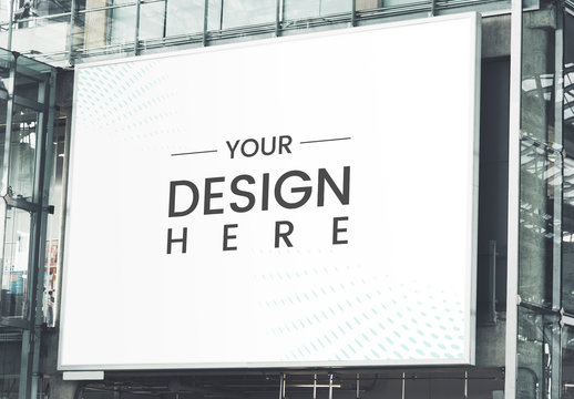 Large Billboard on a Modern Building Mockup