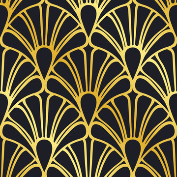 Vector modern tiles pattern. Abstract art deco seamless luxury background