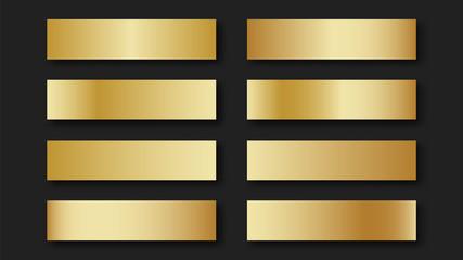 Gold  set of golden gradients Wall mural