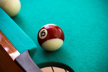 Pool table and ball