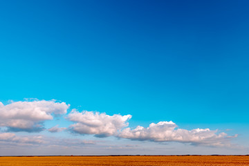 Beautiful plain landscape minimal composition