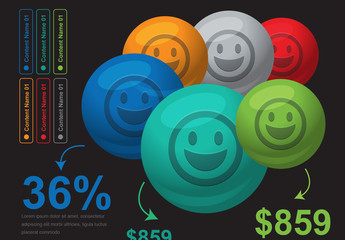 Happy Faces Infographic