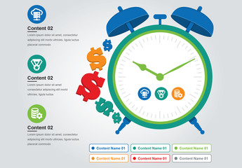 Infographic with Clock and Dollar Signs