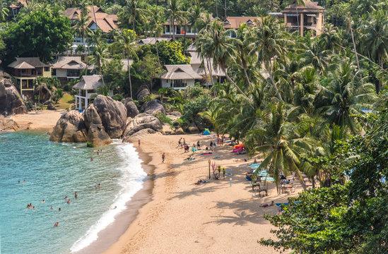 Coral bay cove beach, view at Koh Samui Island Thailand