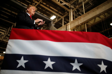 U.S. President Trump visits the Lima Army Tank Plant (LATP) in Lima, Ohio