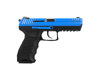 Modern semi automatic piston - blue top details