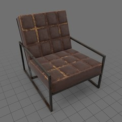 Square contemporary armchair