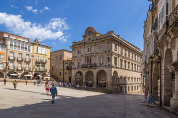 Ourense, Spain. City Hall on the Plaza Mayor