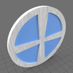 Stylized round window