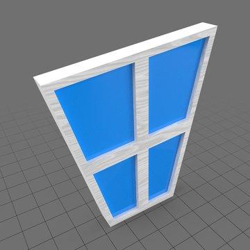 Stylized window