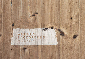 Wooden Background Mockup