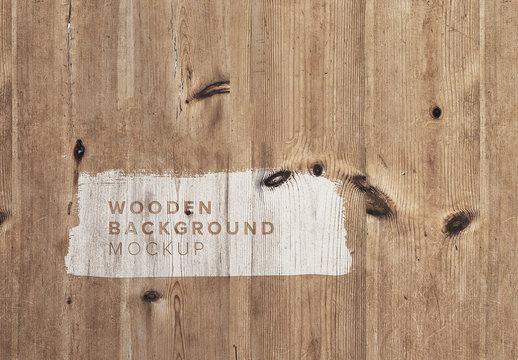 Wooden Background Mockup