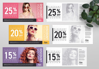 Coupon Voucher, gift card Layout