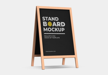 Wooden Stand Mockup