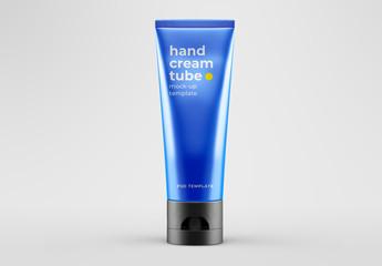 Hand Cream Tube Mockup
