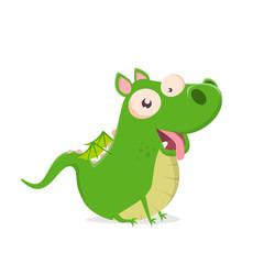 funny cartoon dragon looking like a dog