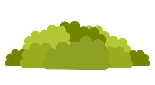 Deciduous shrubs vector icon flat isolated illustration