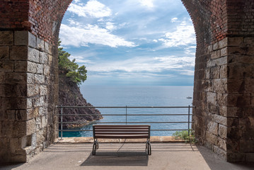 Tunnels between Bonassola and Framura - Liguria - Italy