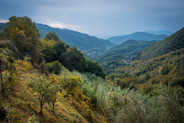 landscape in the mountains near Lucca, Italy
