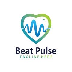 beat pulse logo icon