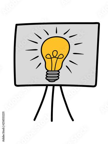 Glühbirne Idee Licht Leuchten Nachdenken Malen Zeichnen Rahmen