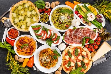 パスタとイタリア料理 Typical Italian pasta