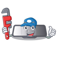 Plumber rear view mirror miniatur shape character