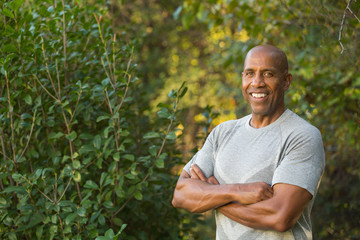 Portrait of a mature Fit African American man.