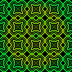 Seamless geometric Backgrounds. Vector Illustration. Hand Drawn Wrap Wallpaper, Cover Fabric, Cloth Textile Design. black green color