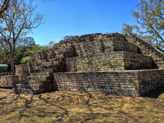 Copan archaeological site of Mayan civilization, not far from the border with Guatemala. It was the capital of the main classical kingdom period from the 5th to the 9th century AD.