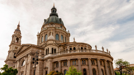 shot of St. Stephen's Basilica church in Budapest Wall mural
