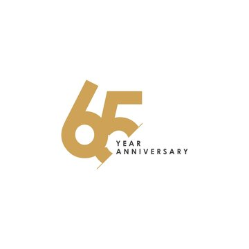 65 Year Anniversary Vector Template Design Illustration