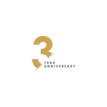 3 Year Anniversary Vector Template Design Illustration