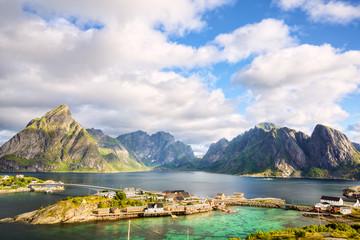Fotomurales - Fishing village in Lofoten Islands, Norway